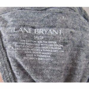 Lane Bryant Tops - Lane Bryant Gray Split Back T Shirt Top 14W 16W